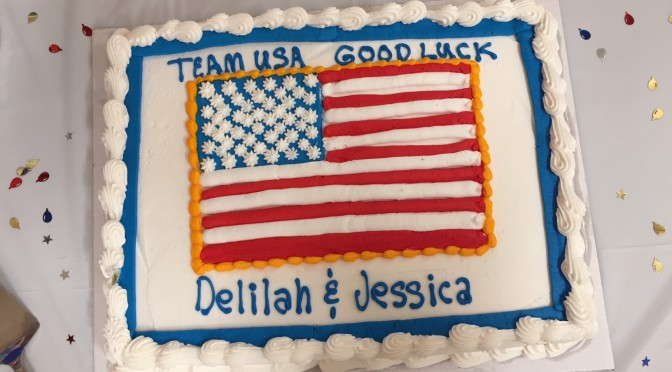 And they're off!  Go TEAM USA!