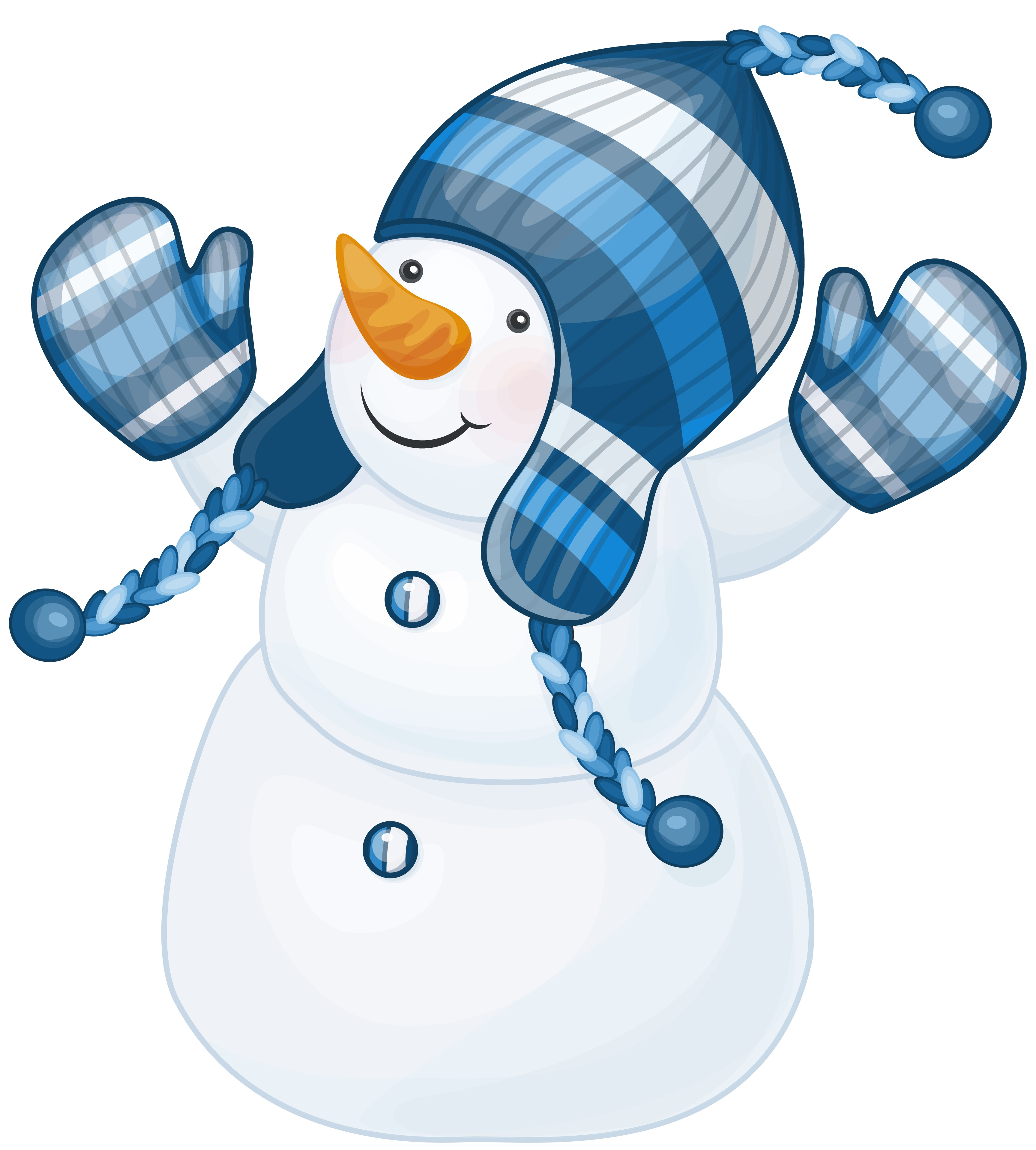 Snowman_with_Blue_Hat_Clipart